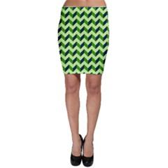 Modern Retro Chevron Patchwork Pattern Bodycon Skirts