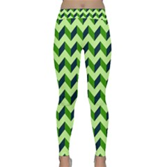 Modern Retro Chevron Patchwork Pattern Yoga Leggings