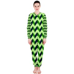 Modern Retro Chevron Patchwork Pattern OnePiece Jumpsuit (Ladies)