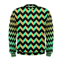 Modern Retro Chevron Patchwork Pattern Men s Sweatshirts