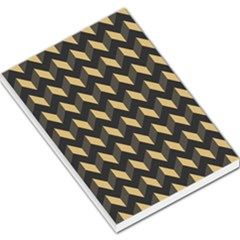 Modern Retro Chevron Patchwork Pattern Large Memo Pads