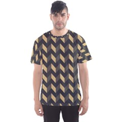 Modern Retro Chevron Patchwork Pattern Men s Sport Mesh Tees