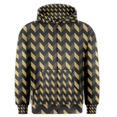 Modern Retro Chevron Patchwork Pattern Men s Zipper Hoodies