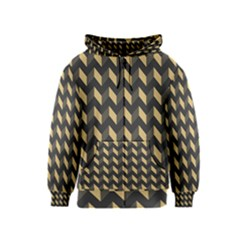 Modern Retro Chevron Patchwork Pattern Kids Zipper Hoodies