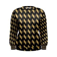 Modern Retro Chevron Patchwork Pattern Women s Sweatshirts