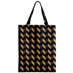 Modern Retro Chevron Patchwork Pattern Zipper Classic Tote Bags