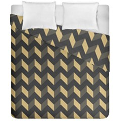 Modern Retro Chevron Patchwork Pattern Duvet Cover (double Size)