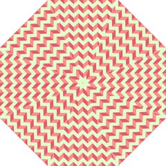 Modern Retro Chevron Patchwork Pattern Folding Umbrellas