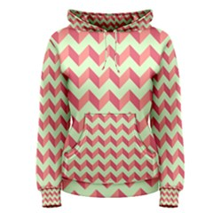 Modern Retro Chevron Patchwork Pattern Women s Pullover Hoodies