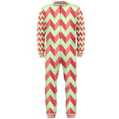Modern Retro Chevron Patchwork Pattern OnePiece Jumpsuit (Men)