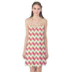 Modern Retro Chevron Patchwork Pattern Camis Nightgown