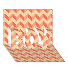 Modern Retro Chevron Patchwork Pattern BOY 3D Greeting Card (7x5)