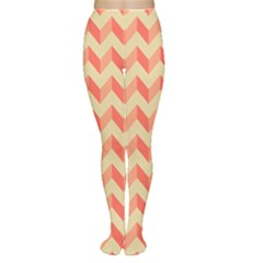Modern Retro Chevron Patchwork Pattern Women s Tights