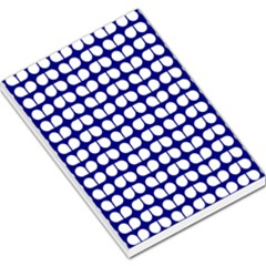 Blue And White Leaf Pattern Large Memo Pads