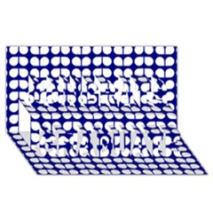 Blue And White Leaf Pattern Congrats Graduate 3D Greeting Card (8x4)