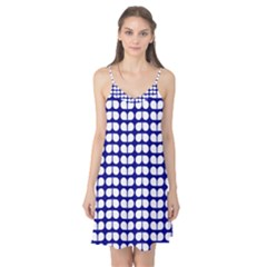 Blue And White Leaf Pattern Camis Nightgown