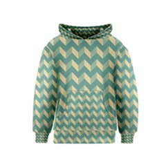 Modern Retro Chevron Patchwork Pattern Kid s Pullover Hoodies