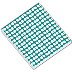 Teal And White Leaf Pattern Small Memo Pads