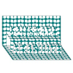 Teal And White Leaf Pattern Congrats Graduate 3D Greeting Card (8x4)