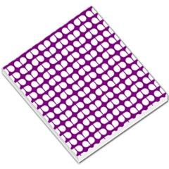 Purple And White Leaf Pattern Small Memo Pads