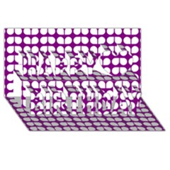 Purple And White Leaf Pattern Happy Birthday 3d Greeting Card (8x4)