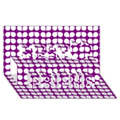 Purple And White Leaf Pattern Best Friends 3d Greeting Card (8x4)