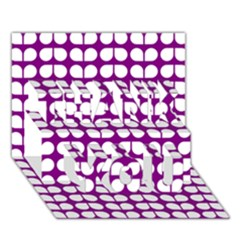 Purple And White Leaf Pattern THANK YOU 3D Greeting Card (7x5)