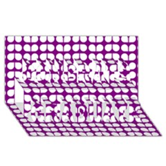 Purple And White Leaf Pattern Congrats Graduate 3d Greeting Card (8x4)