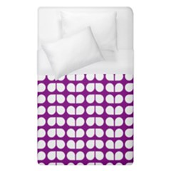 Purple And White Leaf Pattern Duvet Cover Single Side (single Size)