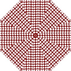 Red And White Leaf Pattern Straight Umbrellas
