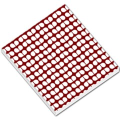 Red And White Leaf Pattern Small Memo Pads