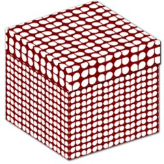 Red And White Leaf Pattern Storage Stool 12
