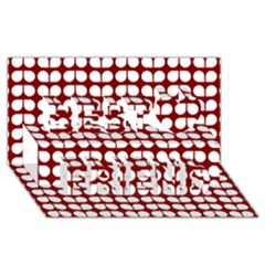 Red And White Leaf Pattern Best Friends 3d Greeting Card (8x4)