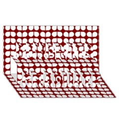 Red And White Leaf Pattern Congrats Graduate 3d Greeting Card (8x4)