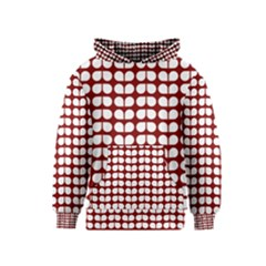 Red And White Leaf Pattern Kid s Pullover Hoodies