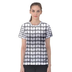 Gray And White Leaf Pattern Women s Sport Mesh Tees