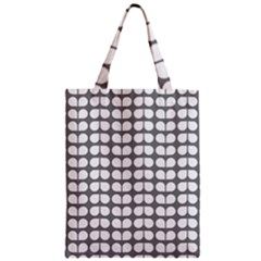 Gray And White Leaf Pattern Classic Tote Bags