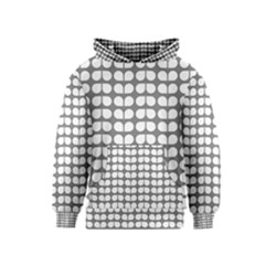 Gray And White Leaf Pattern Kid s Pullover Hoodies