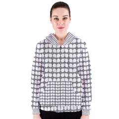 Gray And White Leaf Pattern Women s Zipper Hoodies