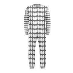 Gray And White Leaf Pattern OnePiece Jumpsuit (Kids)