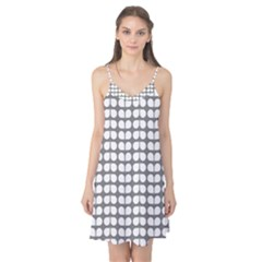 Gray And White Leaf Pattern Camis Nightgown