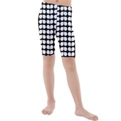 Black And White Leaf Pattern Kid s swimwear