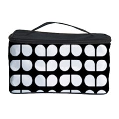 Black And White Leaf Pattern Cosmetic Storage Cases