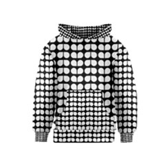 Black And White Leaf Pattern Kid s Pullover Hoodies