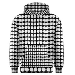 Black And White Leaf Pattern Men s Zipper Hoodies