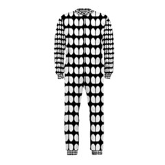 Black And White Leaf Pattern Onepiece Jumpsuit (kids)