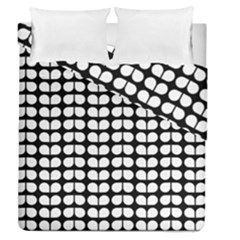 Black And White Leaf Pattern Duvet Cover (full/queen Size)