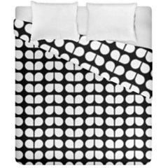 Black And White Leaf Pattern Duvet Cover (double Size)