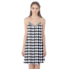 Black And White Leaf Pattern Camis Nightgown