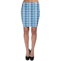 Blue Green Leaf Pattern Bodycon Skirts